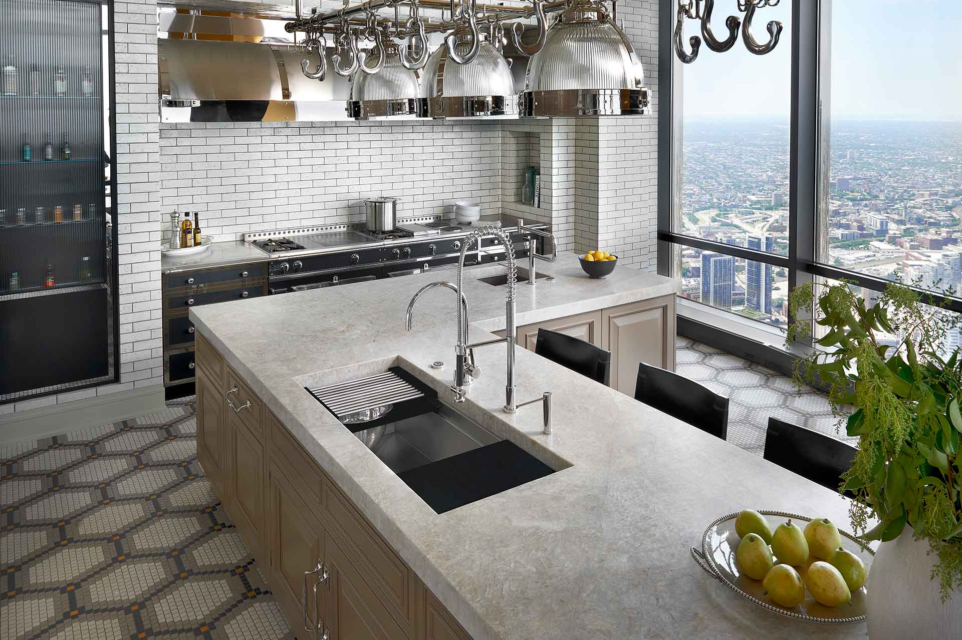 IWS-4-stainless-steel-kitchen-sink-graphite-wood-composite-culinary-kit-trump-tower-high-rise-chicago